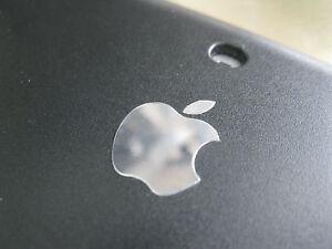 Apple Logo Label Aufkleber Sticker Badge metal chrome color decal 13mm x 16mm
