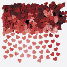 Red Heart Metallic Table Confetti Wedding Engagement Party Decorations Sprinkles