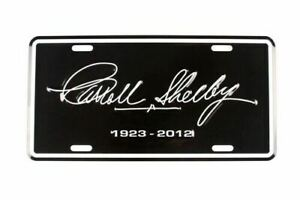 License Plate - Carroll Shelby Tribute 1923-2012 * Ships Worldwide & Free to USA