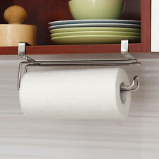 10'' Paper Roll Towel Holder Stainless Steel Racks Under Cabinet Door Drawer