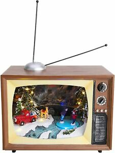 Christmas Concepts® LED Musical Battery Operated Scene Retro Television-VS11