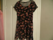 Dorothy Perkins Skater  Dress Size 16.Black/Pink.Floral