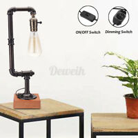 Vintage Desk Lamp Sconce E27 Table Iron Industrial Pipe Steampunk Style