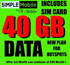 Simple Mobile Sim Card �� with $49.99 40 Gb Plan �� Plan For Hot Spots Hotspots