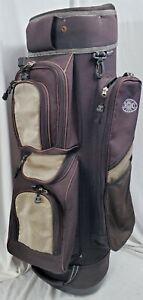 Miller Ice 1DS14 Brown Tan 14 Divider Golf Carry Cart Bag
