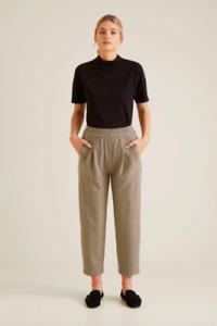 NWT Seed Heritage Black Mock Neck Top T-Shirt Size XS Short Sleeve Basic Womens