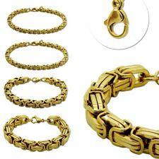 1 Pulsera Acero Inoxidable Cadena Rey Collar 22 cm Oro Hombre Mujeres Masivo