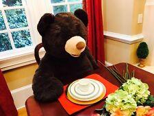 "4.5FtXL 53"" Large Teddy Bear Boyfriend Plush Toy Dark Brown Giant Stuffed Animal"