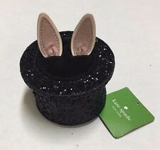 KATE SPADE MAKE MAGIC RABBIT IN A HAT COIN PURSE WALLET BAG BUNNY GLITTER New