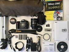 Nikon D90 Camera Bundle -- Camera Body with Nikon 18-200mm Lens & Accessories