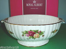 Royal Albert OLD COUNTRY ROSES Fluted Serving Bowl Footed w/Side Handles New