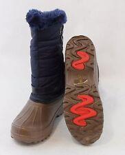 Women Snow Boots Mud Rubber RainBoots Warm Winter Shoes Side Zipper Mid Calf