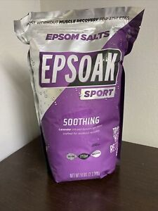 Epsoak Sport Lavender Epsom Salt for Athletes - 5 lbs. Soothing Therapeutic S...
