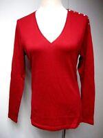 C Wonder Essentials Mock Neck Pima Cotton Knit Top Long Slv Navy L NEW A281441