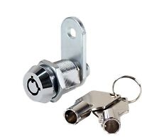 """Tubular Cam Lock 1-1/8"""" Cabinet Toolbox Safe Drawer Replacement"""