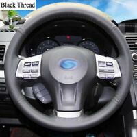 New DIY Sewing-on PU Leather Steering Wheel Cover Exact Fit For Subaru Outback