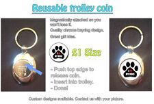 I LOVE (HEART) MY DOG - REUSABLE £1 SHOPPING TROLLEY TOKEN - GREAT GIFT IDEA