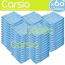 60x Azul Limpieza del coche detallando paños de microfibra suave polaco/Toallas Paquete a granel