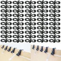 100 Pack Rope Light Gutter Hooks / Clips - specially for Christmas Rope Light