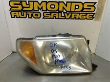 2003 MITSUBISHI PININ DRIVER SIDE OFF SIDE O/S FRONT LIGHT HEADLIGHT REF: F133