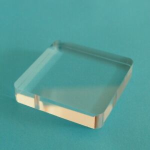Acrylic Display Base for Minerals etc. 50 x 50 x 10 mm.