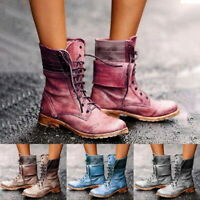 Winter Women's Casual Motor Classic Boots Leather Martens Ankle Boots Warm Shoes
