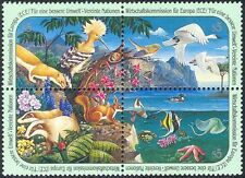 UN (V) 1991 Badger/Hoopoe/Animals/Nature/Fish/Birds/Marine/Insects 4v blk n30213