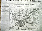 1862 displayable Civil War newspaper w Large Map BATTLE of MILL SPRINGS Kentucky