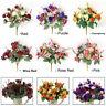 21 Heads Artificial Rose Fake Silk Flowers Bouquet Home Wedding Floral Decor