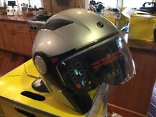 CAN-AM ST-1 HALF HELMET WITH COMM SYSTEM. SILVER (XL).