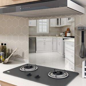 Stainless Steel Cooker Splashback Mirrored Kitchen Hob Back Splash Back Plate UK