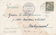 German South West Africa postcard with Togo stamp and Seepost cancel