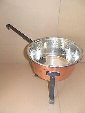 Pentola in rame da cucina polsonetto con piedi in ferro preparazioni varie 30 cm