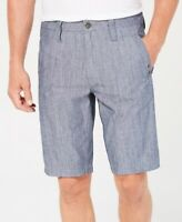 INC NEW Blue Mens US Size 36 Grommet Detail Flat Front Casual Shorts $49 #209