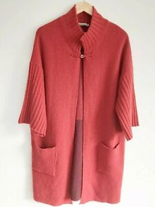 Chiaramente Red Wool Blend  Cardigan Jacket Size M MADE IN ITALY