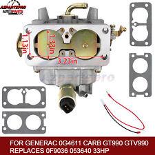 Carburetor Fit Generac 0G4611 GT990 GTV990 Replaces 0F9036 053640 33HP