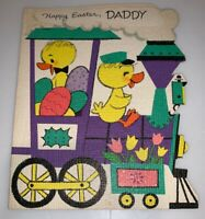 Vintage 1950' s FORGET-ME-NOT Happy Easter Daddy Greeting Card