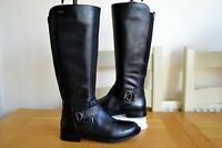 "CLARK`S ""MINT TREAT GTX"" BLACK LEATHER WATERPROOF KNEE HIGH BOOTS UK4.5D RP £140"