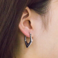 Fashion Hoop Earrings for Women 925 Silver Personality Jewelry A Pair/set