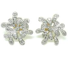 42 Diamond 9ct 9K Solid Gold Stud Earrings  - Free Shipping - 30 Days Refunds