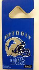 """NFL Detroit Lions 4"""" x 8 3/4"""" Plastic Door Hanger Sign"""