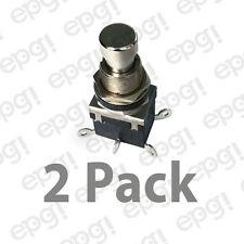 Dpdt Onon Metal Button Push Button Switch 4amps 125vac 66 2462 2pk