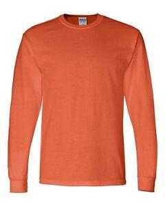 Gildan Adult 50/50 Cotton Blend Long Sleeve T-Shirt Mens Size S-3XL Tee g8400