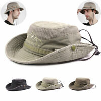 Men's Outdoor cap Mesh Sun Hat Wide Brim UV Sun Protection Fishing Hiking Hat