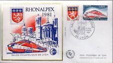 1802+ FDC  ENVELOPPE 1er JOUR     BLOC CNEP N° 2  RHONALPEX 1981
