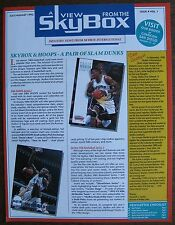 A View From The Sky Box July 1993 Newsletter (no cards) Superman, Batman, Shaq