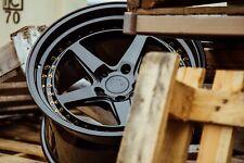 Aodhan DS05 18x9.5 +22 5x114.3 Gloss Black 240sx Genesis G35 Mustang Civic TLX