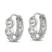 USA Seller Huggie Earrings Sterling Silver 925 Endless Best Price Jewelry Gift