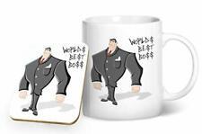 Worlds Best Boss - Printed Mug & Coaster Gift Set by BWW Print Ltd
