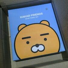 Kakao Friends Ryan Embroidery Towels Washcloths 3 Pcs Cotton 100%